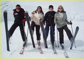 photo de groupe ski